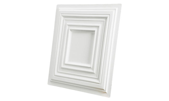 Profile of Bistro 2x2 White Ceiling Tile