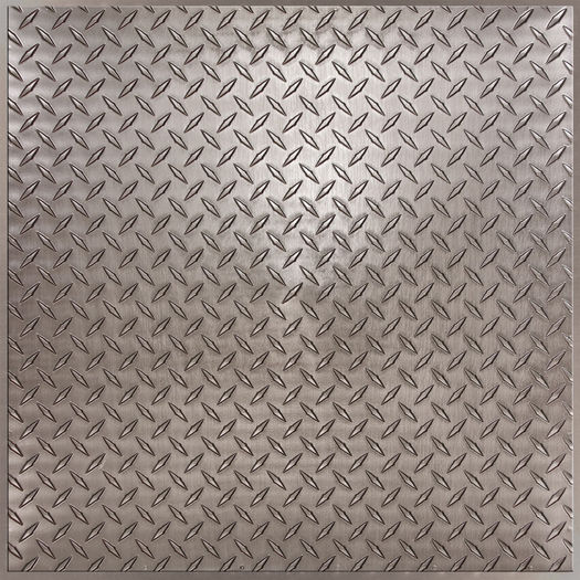 Diamond Plate Pewter Ceiling Tile