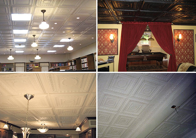 Installed photos of Empire Ceiling Tile