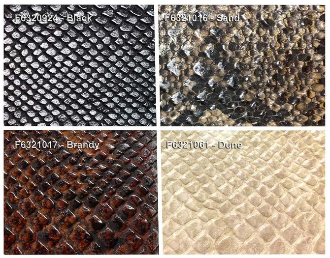 Details of Faux Leather Ceiling Tiles