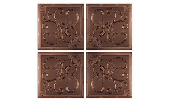 Antique Copper French Quarter Ceiling Tile