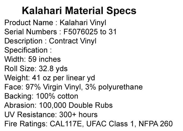 Leather Ceiling Tile Specifications