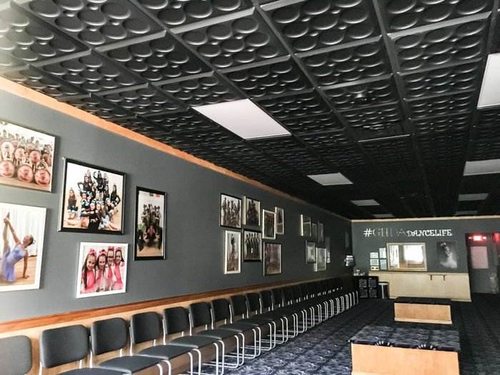 Black Roman Circle used as a Restaurant Ceiling Tile