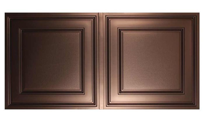 Faux Bronze Stratford 2x4 Ceiling Tile
