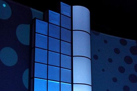 Translucent Ceiling Tile Illuminated on a Stage