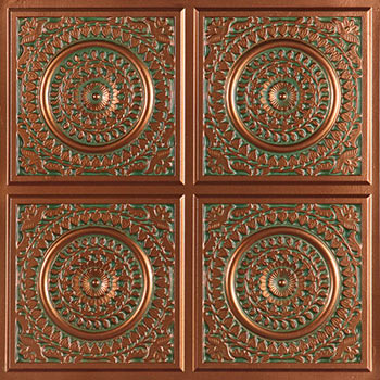 Catania Ceiling Tile - Patina Copper