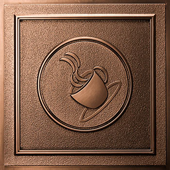 Coffee Ceiling Tile - Antique Bronze - D