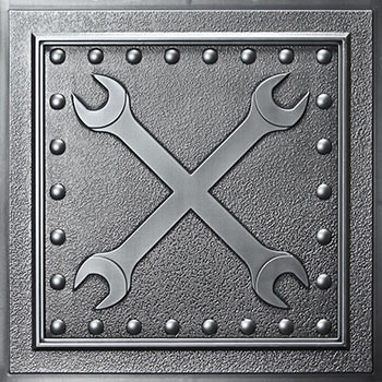 Wrenches Ceiling Tile - Antique Nickel