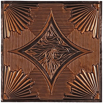 Ferrara Ceiling Tile - Antique Copper