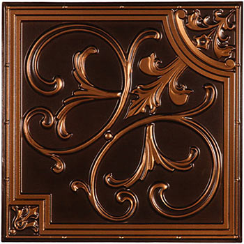 Florence Ceiling Tile - Antique Copper