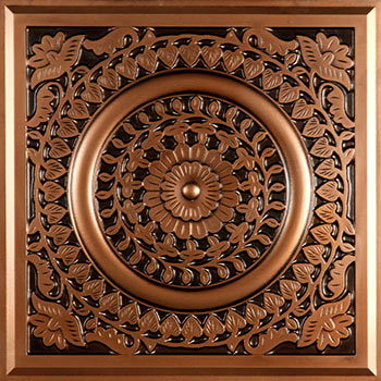 Ravenna Ceiling Tile - Antique Copper