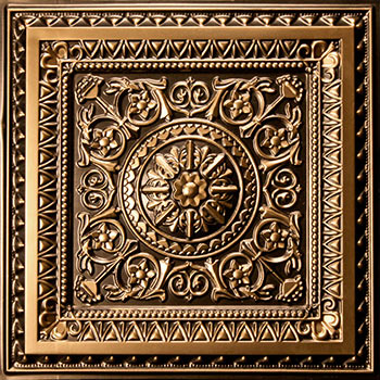 Milan Ceiling Tile - Antique Gold