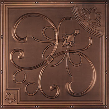 French Quarter Ceiling Tile - Antique Bronze