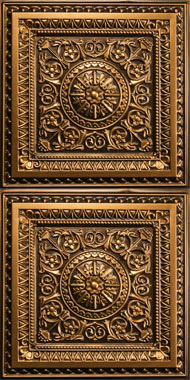 Milan Ceiling Tile - Antique Gold 2x4