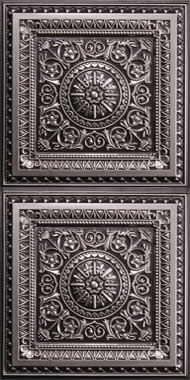 Milan Ceiling Tile - Antique Silver 2x4