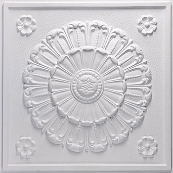 Medallion Ceiling Tile - White