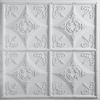 Cathedral Ceiling Tile - White